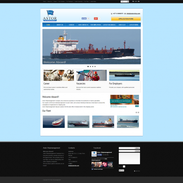 astor shipmanagement crewing website